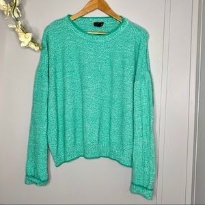 TOPSHOP Teal Knit Sweater 8